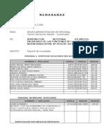 Informe Mensual Novedades Personal Julio 06