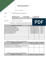 Informe Novedad de Personal Agosto de 2006