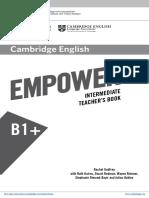 B1+ Intermediate Teacher book