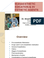 Preanaesthetic Medication Anaesthetic Agents