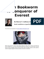 From Bookworm to Conquerer of Everest