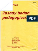 Zasady Badan Pedagogicznych - Tadeusz Pi