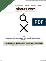 Ice Skate Sizing Charts & Fitting