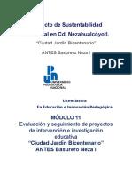 Evaluación y seguimiento de proyectos de intervención e investigación educativa