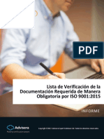 Checklist of ISO 9001 2015 Mandatory Documentation ES