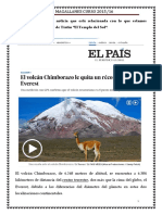 La Noticia Del Volcán Chimborazo
