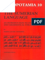 The Sumerian Language, An Introduction to Its History and Grammatical Structure - Marie-Louise Thomsen