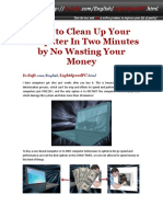 How to Clean Up Your Computer in Two Minutes by No Wasting Your Money