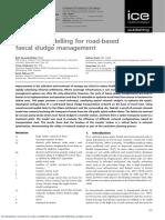 Network Modelling for Road-based Faecal Sludge Management