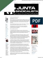 Junta Sindicalista_ Manifiesto Político