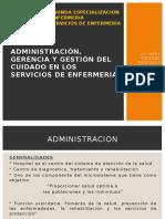 Administracion Gerencia Gestion Del Cuidado en Los Servicios de Enfermeria Plan de Gestion