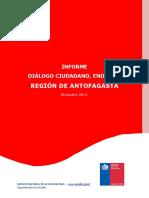 II Informe Diálogo Cuidadano Región de Antofagasta