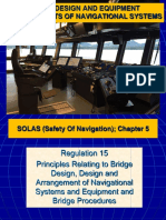 6-2 Bridge Design and Equipment Arrangements of Navigational Systems