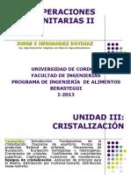 Unidad III- Cristalización IA I-2013