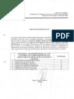 Edital de Convocação - Concurso Público Municipal Edital 08 2016