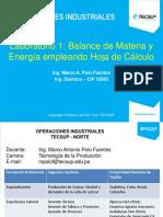 Laboratorio 1_balance de Materia y Energía_hoja Cálculo