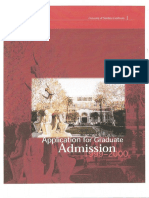 1999-2000 USC Application for Graduate Admission