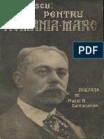 Pentru România Mare - cuvântări din războiu 1914-1916 - N.Filipescu