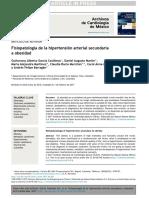 Fisiopatología de La Hipertensión Arterial Secundaria a Obesidad