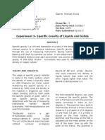 Formal Report Specific Gravity