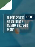 Adherir Servicio Nic Tad en Afip