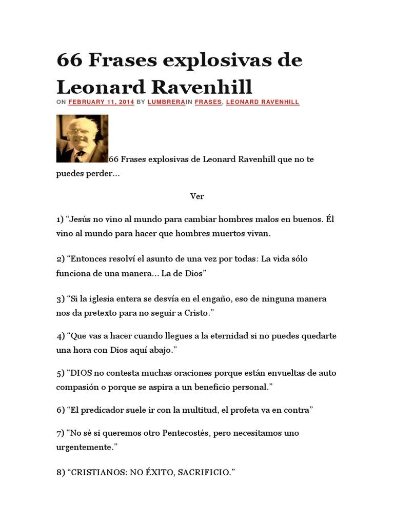66 Frases Explosivas De Leonard Oração Cristo Título