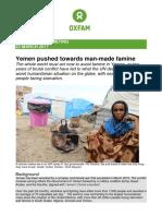 Yemen Pushed Towards Man-Made Famine