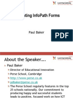 Integrating Info Path Forms