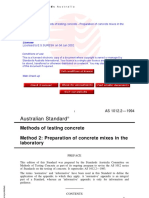 As 1012.2-1994 Methods of Testing Concrete - Preparation of
