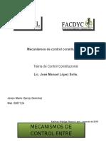 Mecanismos de Control Constitucional.