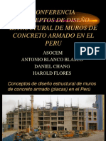 Conferencia Conceptos de Diseño Estructural de Muros de Concreto Armado en El Peru Asocem Antonio Blanco Blasco Daniel Chang Harold Flores
