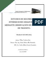 Estudios de Seguridad en Intersecciones Semaforizadas Mediante Observación de Conflictos de Tránsito. Wilma Verdecia Soto