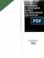 Giampero Arciero - Estudios y Diálogos Sobre La Identidad Personal, Reflexiones Sobre La Experiencia Humana