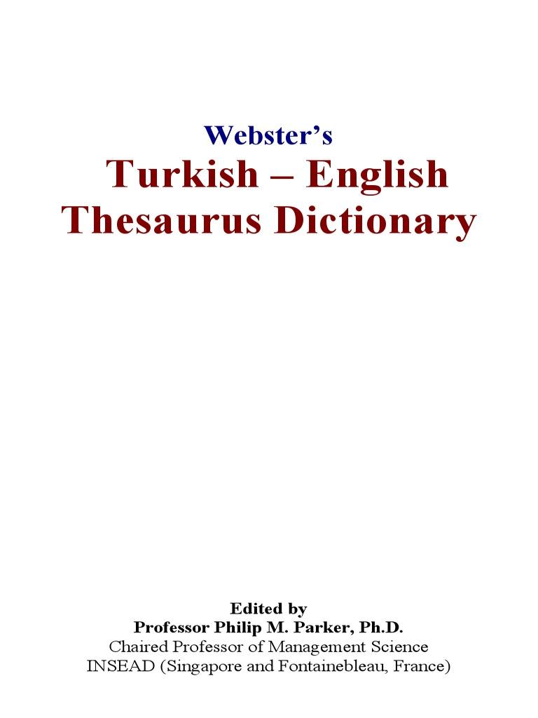 40780611 Websters Turkish Englishpdf English Language Dictionary