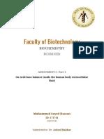 Biochemistry assignment