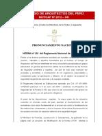 Pronunciamiento CAP 2003-2012