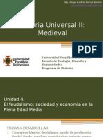 Unidad 4 El Feudalismo Sociedad y Economía en La Plena Edad Media (Avances)