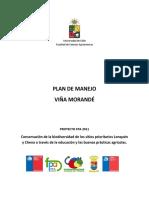 Plan de Manejo par Viña Morande
