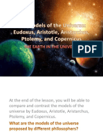 The Models of the Universe