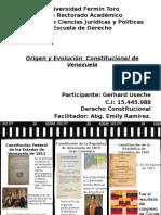 Origen y Evolución Constitucional de Venezuela