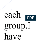 Each Group
