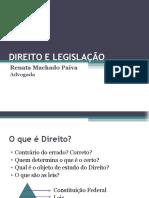 Direito e Legislação - 1ª Aula