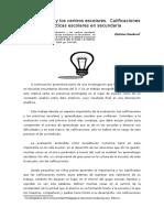 1.-La Evaluación y Los Centros Escolares(Sandoval,Estelvina)