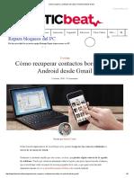 Cómo recuperar contactos borrados en Android desde Gmail.pdf