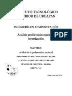 Analisis de La Problematica Nacional Anastasio Bravo