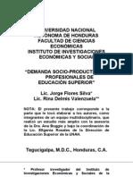 DEMANDA SOCIOPRODUCTIVA DE PROFESIONALES DE EDUCACIÓN SUPERIOR