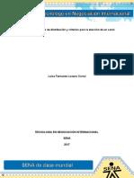 Evidencia 2 Politicas de Distribucion y Criterios Para La Eleccion de Un Canal