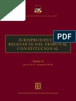 JURISPRUDENCIA RELEVANTE DEL TRIBUNAL CONSTITUCIONAL TOMO VI (Junio 2014 ∙ Diciembre 2015)