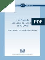 150 Años de Las Leyes de Reforma 1859-2009