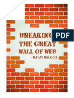 Breaking the Great Wall of Web Rafay Baloch